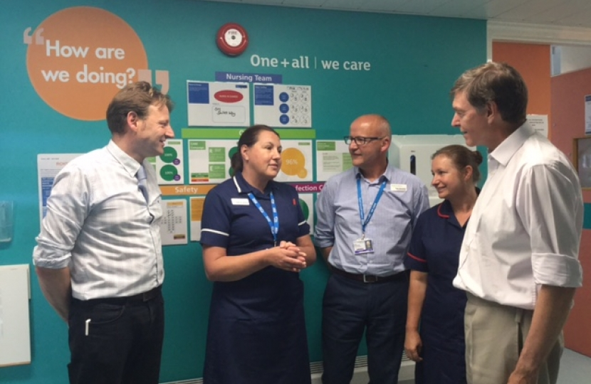 Derek with NHS staff