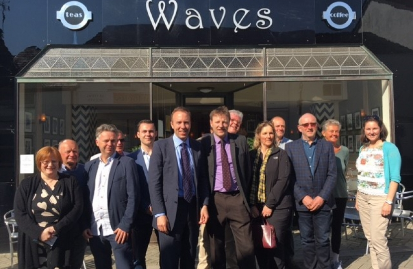 Waves Cafe Derek with business owners