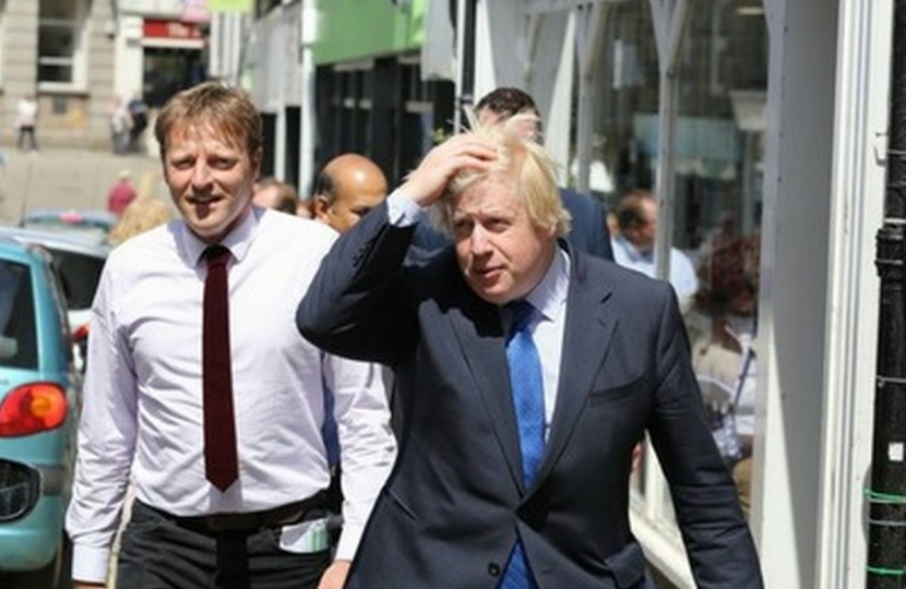Derek and Boris Johnson
