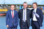 Derek at Newlyn Harbour with Michael Gove and George Eustice
