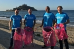 Beach clean in Marazion