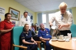 Derek and Boris Johnson at West Cornwall Hospital